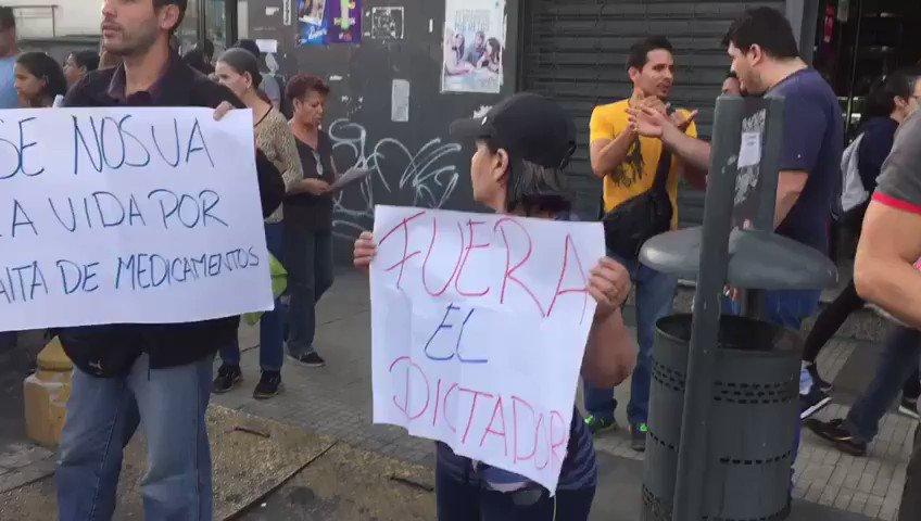 Protest against dictatorship in San Martin, Caracas