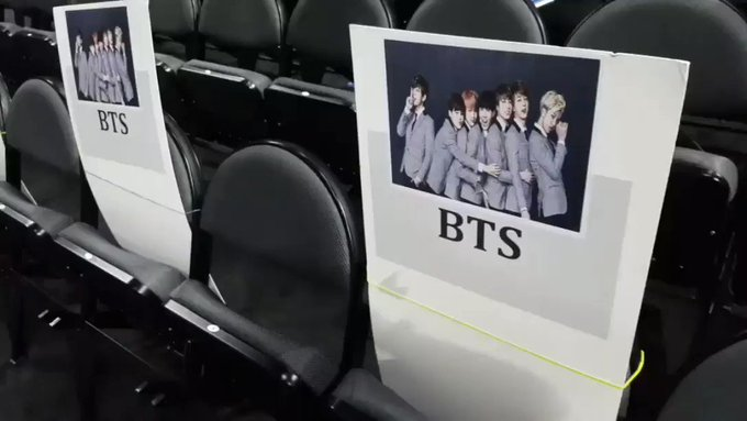 Found where @BTS_twt is sitting on Sunday! #BBMAs