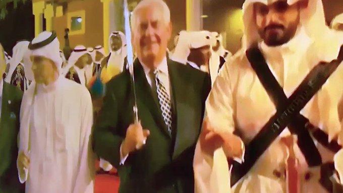 Tillerson dances at dinner for POTUS and King Salman in Saudi Arabia