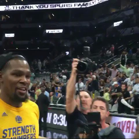 Kevin Durant hugs @MamaDurant after @warriors win! #ThisIsWhyWePlay ht...