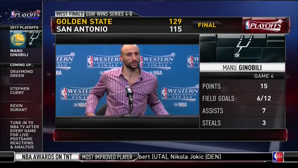 After Manu answered a question in Spanish, the local media had to make sure he didn't just announce his retirement 😂
