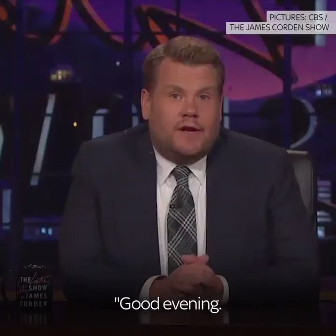 James Corden's emotional tribute to the victims of the #ManchesterAttack