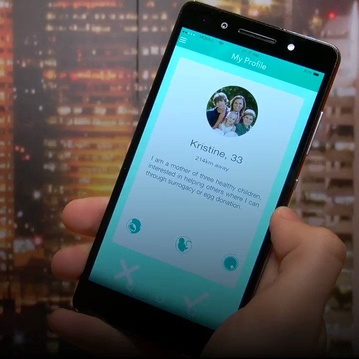 """This """"dating"""" app lets you search for sperm and egg donors, surrogate mothers and lovers..."""