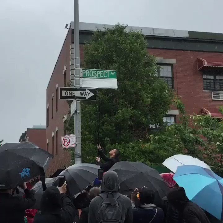 The unveiling of Kalief Browder Way on what would have been his 24th birthday. #KaliefBrowder