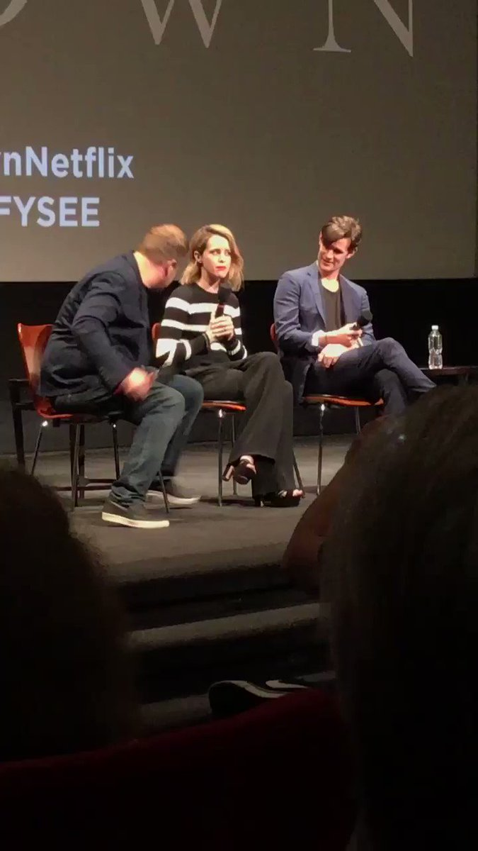 Claire Foy. Matt Smith and @JKCorden talking about @TheCrownNetflix #fysee Season 2 coming! https://t.co/1nvRYsQoM5