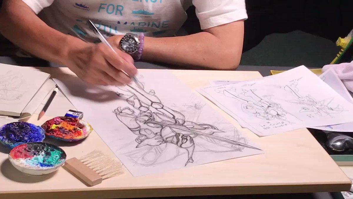 聖戦士ダンバインBD-BOXに収録するイラストを宮武さんが描く!その模様を収録中です。ダンバインが完成するまで宮武さんが頑張ります!せっかくなので動画を少しだけ上げちゃう。