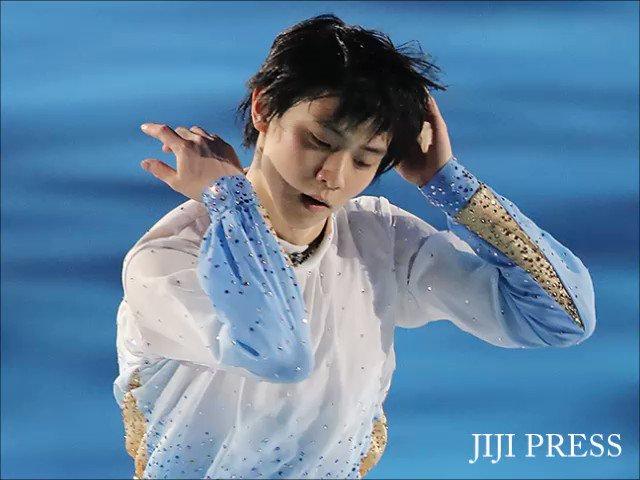 フィギュアスケートのアイスショーで演技する羽生結弦です。【写真特集】→https://t.co/qVC4DRSngO #羽生結弦 #フィギュ...