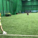 直前の投球練習ではこんな感じでした。。#始球式#投球練習#昨日から練習しすぎで肩パンパン#100km…