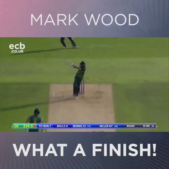 The final over in full! #ENGvSA  How tense was this!? https://t.co/Bay...