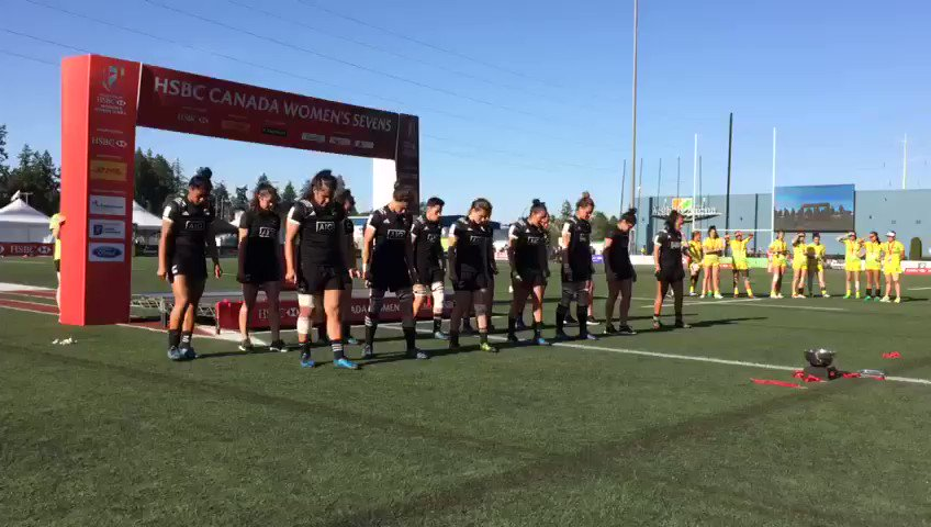 HAKA: @BlackFerns 7s with their Haka after their big win at the #Canad...