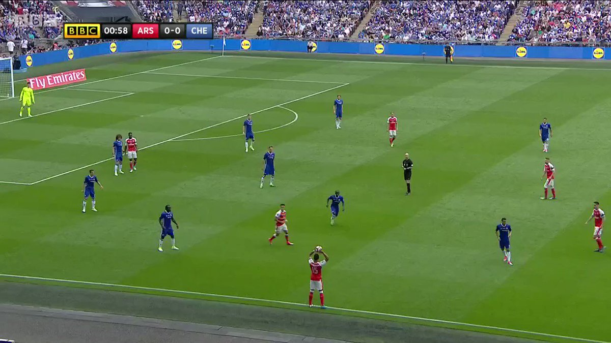 The 44-pass passage of play that leads to (the corner for) Arsenal's first goal in the FA Cup final https://t.co/Vw8D43Gwod