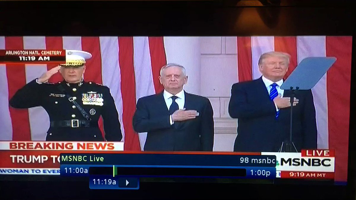 Trump 'paying respect' at Arlington: All he has to do is stand still, not look foolish #ThePresidentsBrainIsMissing https://t.co/Hfp3tmvQWC
