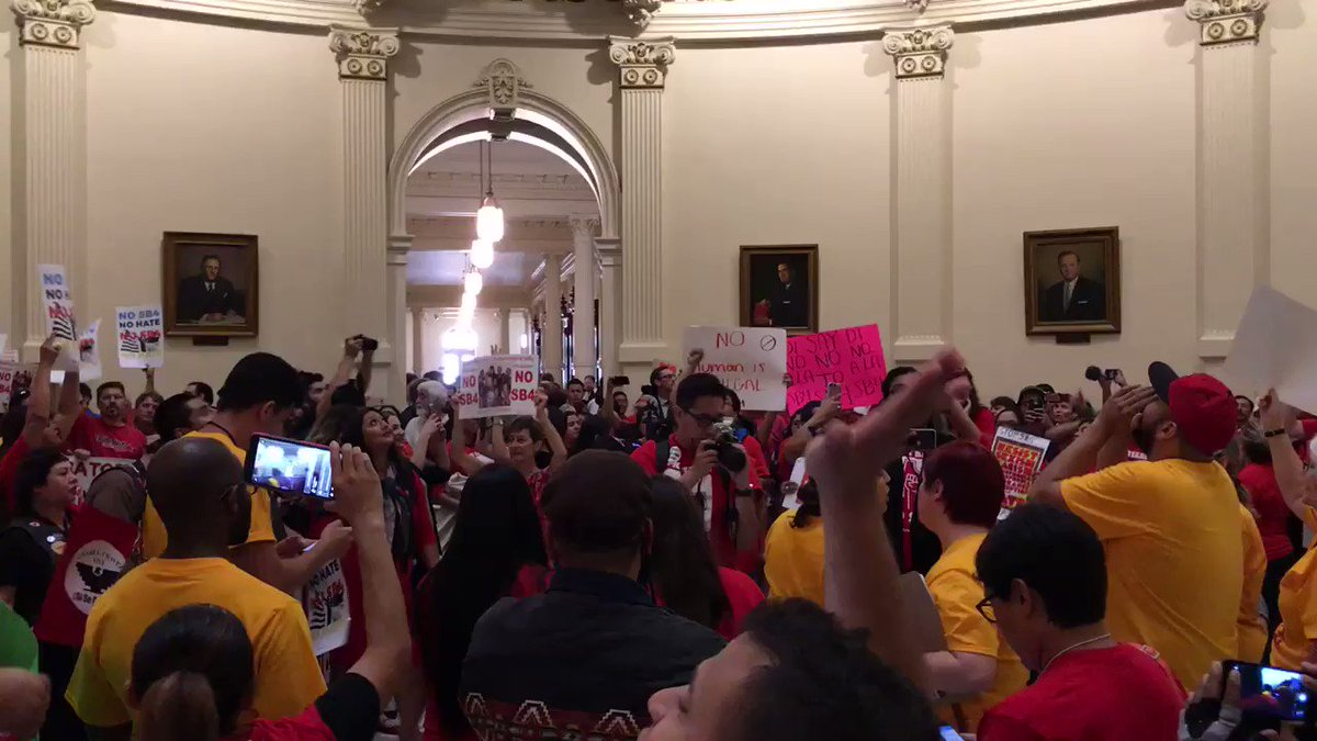 """""""This is what democracy looks like!"""" #SB4isHate #HereToStay https://t.co/NZ6a5bR2dJ"""