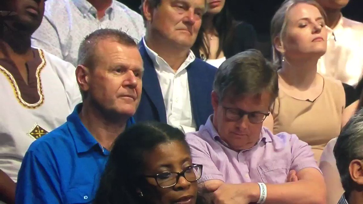 """That guy mouthing """"that's bollocks"""" probably managed to sum up the mood of the nation watching #BattleForNumber10 https://t.co/yUQeFGKPA8"""