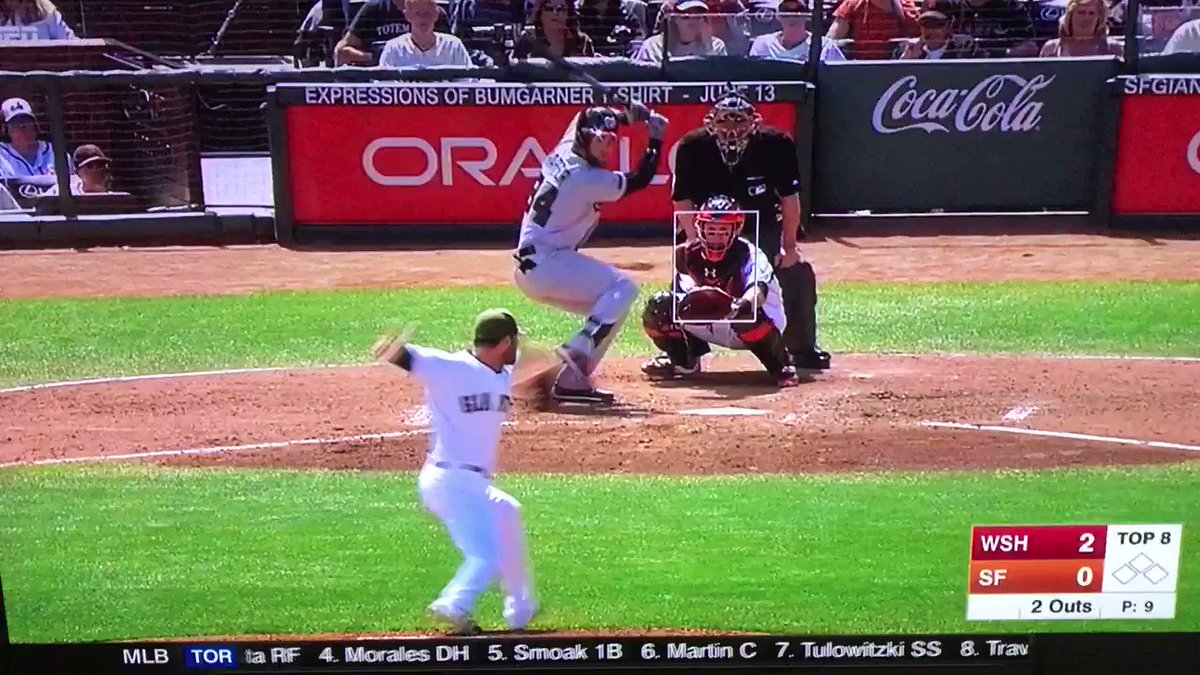 Baseball fight alert! Bryce Harper charges the mound after being hit by Hunter Strickland https://t.co/Fx7E0sDj0n (Vid via: @DCBarno)