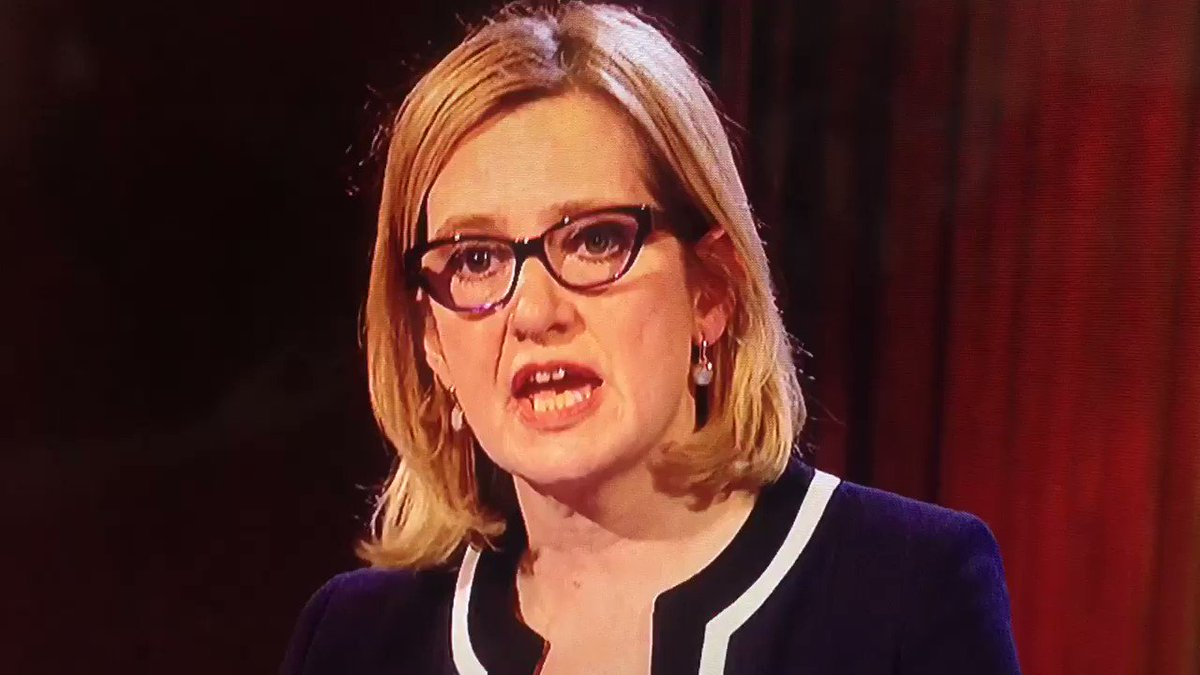 """Amber Rudd gets the biggest laugh of the night - """"judge us by our record"""" #bbcdebate https://t.co/LEIoBnJki1"""