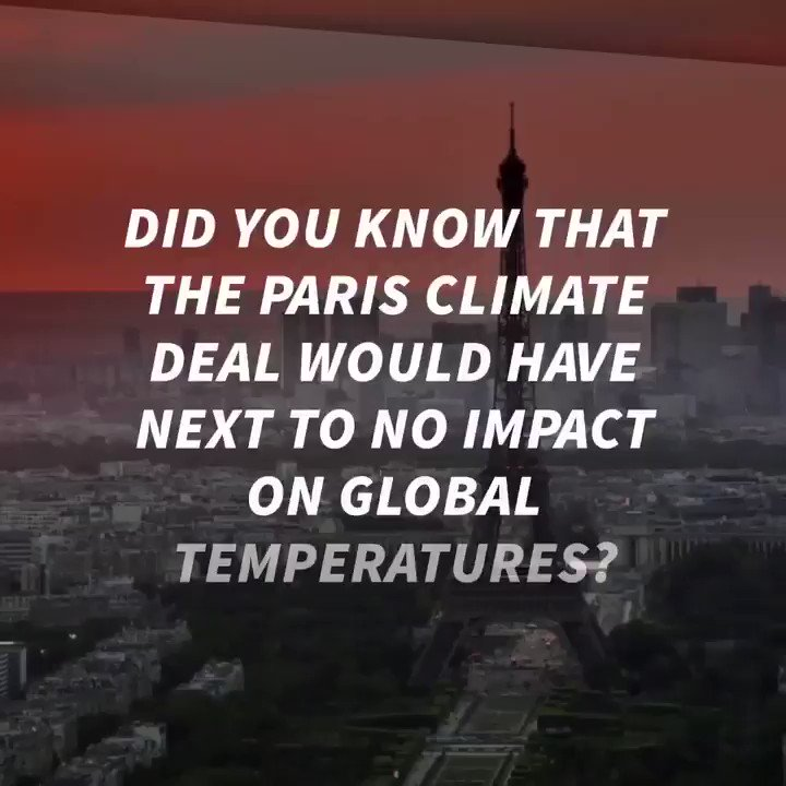 Did you know that the #ParisAgreement would have next to no impact on global temperatures?