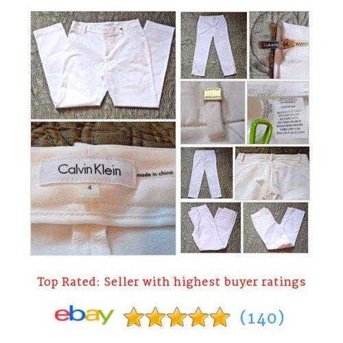 Size4 Cream White #GoldZipper #SlimFit #Cropped #Skinny #Spring #CalvinKlein  http://www.ebay.com/itm/Calvin-Klein-Womens-Size-4-Cream-White-Pants-Gold-Zipper-SlimFit-Cropped-Skinny-/252943799887…?