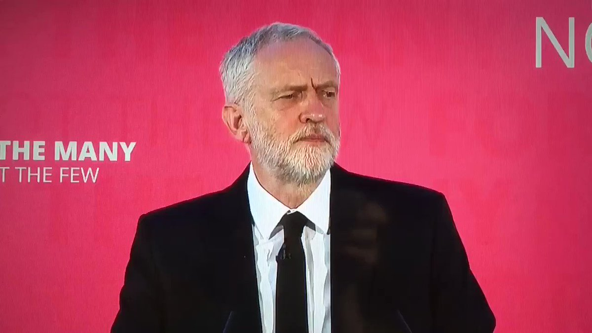 Here's the Corbyn speech that Sky ran in full and which BBC TV news is suppressing