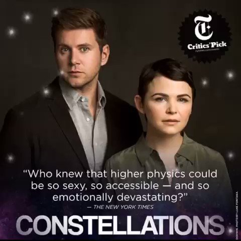 And here we are! 1st preview of #Constellations just hours away! Break legs #GinniferGoodwin @Allenleech & crew! https://t.co/qhqVfcqevU