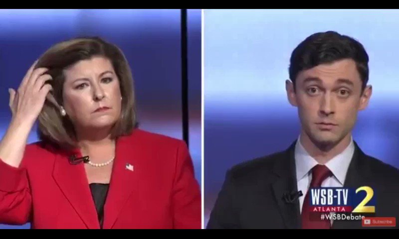 Oh SNAP! @Ossoff busts @karenhandel HARD when she tries to weasel out of her Komen/@PPFA controversy! Watch! https://t.co/X1mh0bwWHF