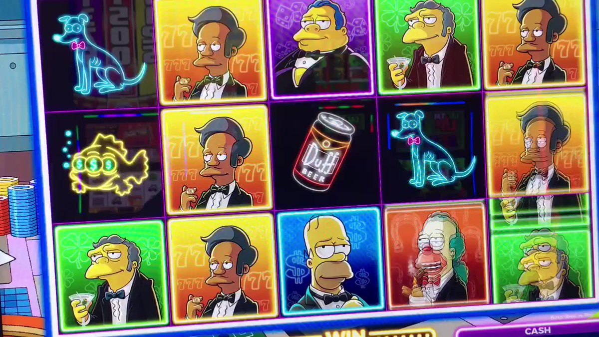 #TheSimpsons slot machine. New from @ScientificGames https://t.co/JybQmAp6NR