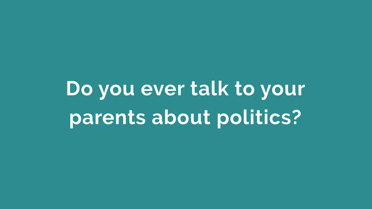 Every tried talking to your parents about politics? Hard work? Avoid that and have your say by voting tomorrow - https://t.co/vLaNYeFiJf