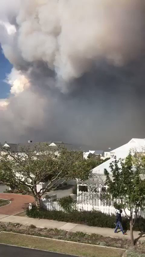 This is my home town in Knysna, South Africa right now :( please think of the people there today.
