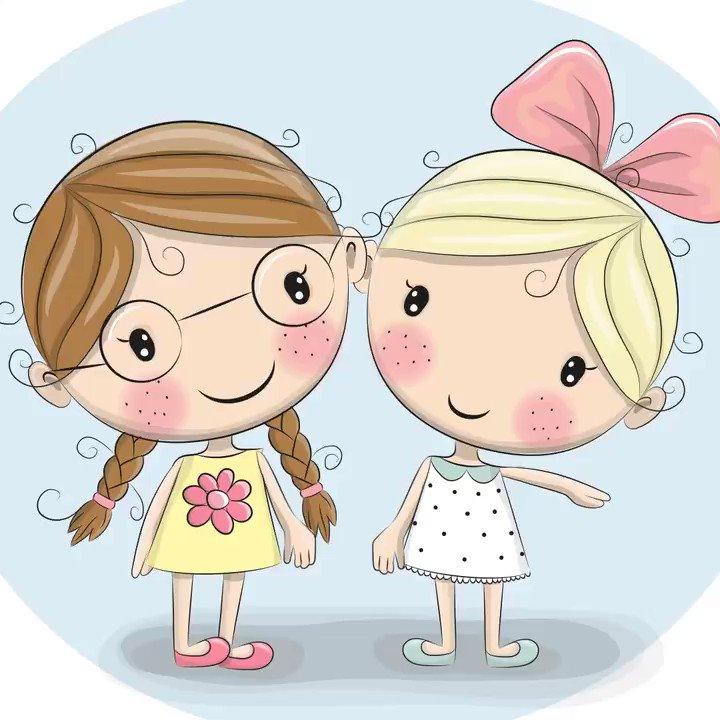 Смешные картинки, картинки девочки подружки для детей