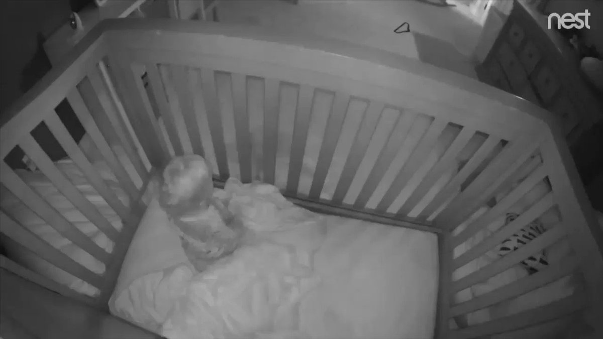 Mischievous toddler helps spring baby brother from crib