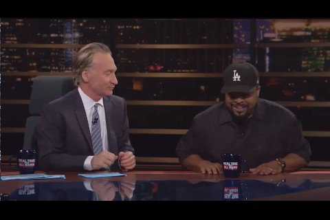 Oh yeah, Ice Cube gave @billmaher the talk he needed to hear