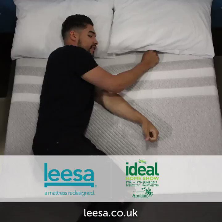 Come and meet me today on the @LeesaSleepUK stand L460 at @ideal_home_show! #leesasleep #manchester