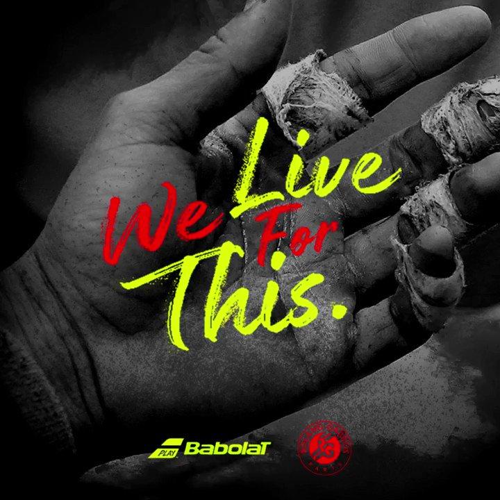 Believe in Vamos! @RafaelNadal #WeLiveForThis #RG17 https://t.co/wLyqmI26HP