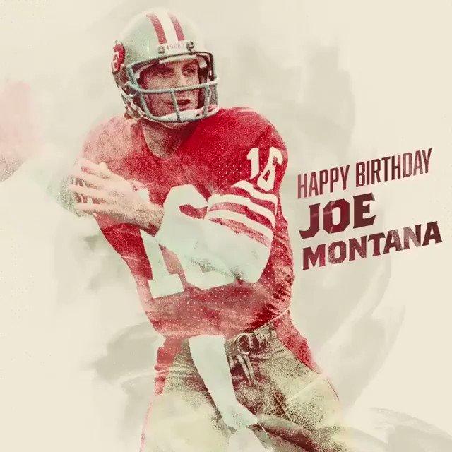 Happy 61st birthday to Joe Montana
