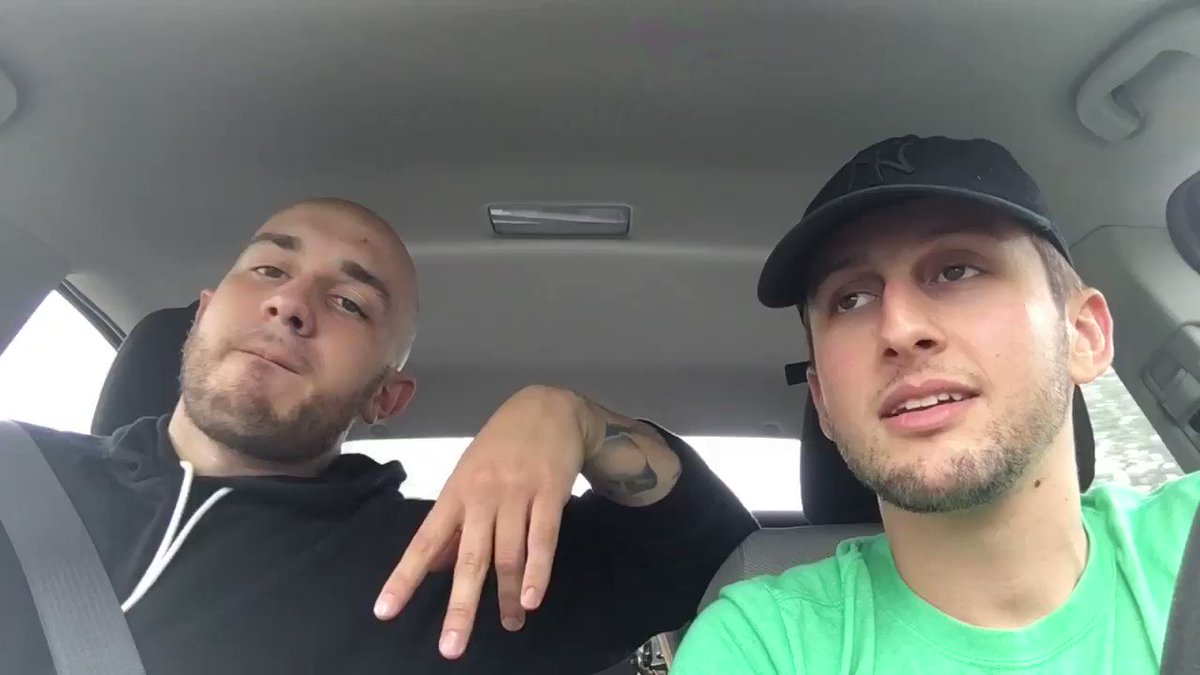 Driving & rapping w/ @emiliorojas https://t.co/MtOFffxeBZ
