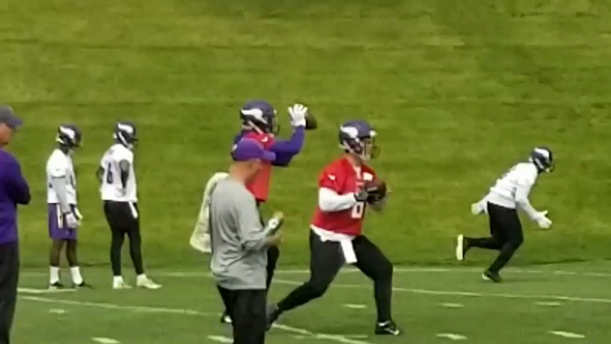 Teddy Bridgewater continues to fire at #Vikings practices, although not in full team work. Minicamp started today. https://t.co/SxKCT0V7qK