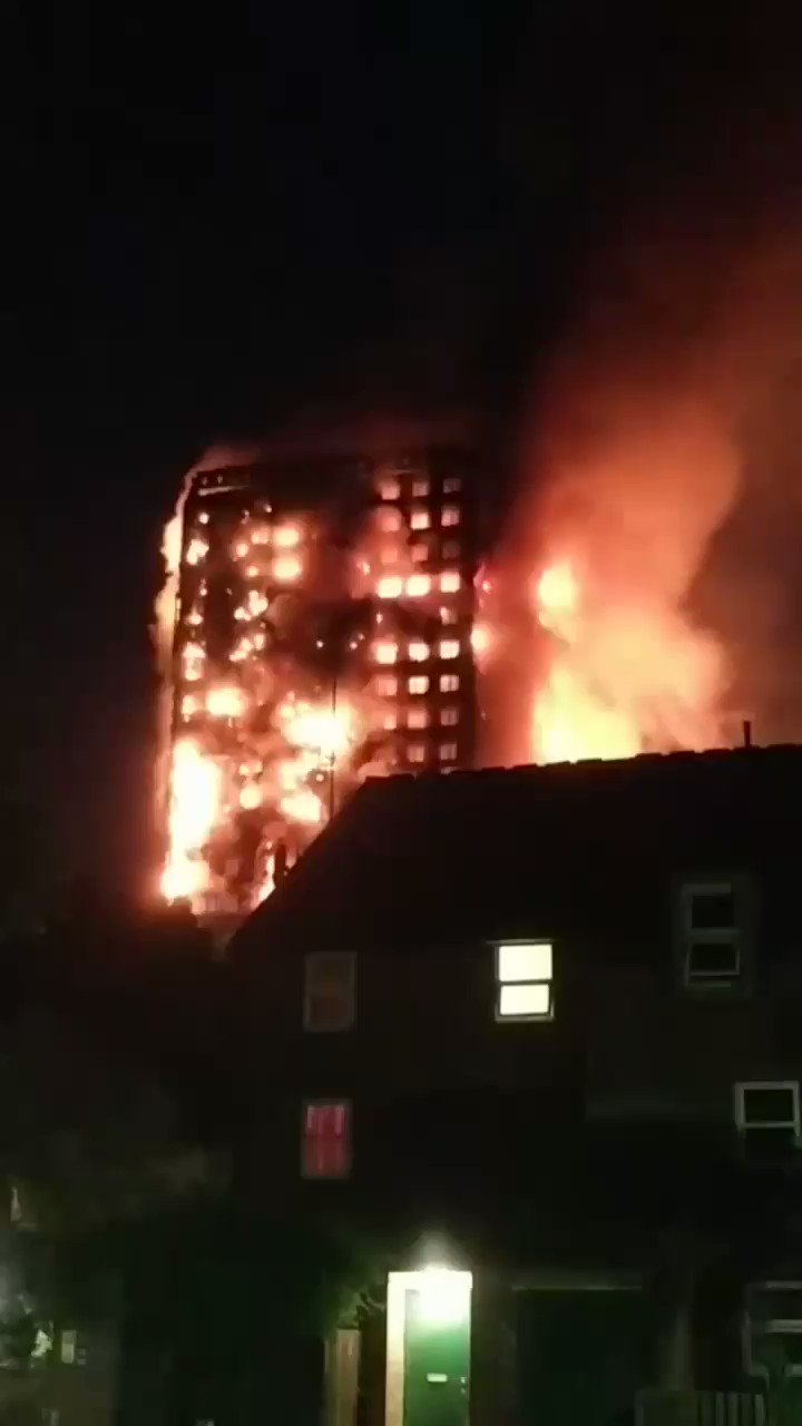 Thumbnail for Fire engulfs London tower block