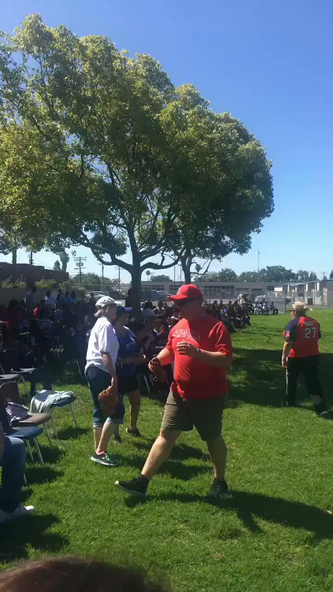 6th grade softball game has started! #LetsGoStudents #LetsGoTeachers