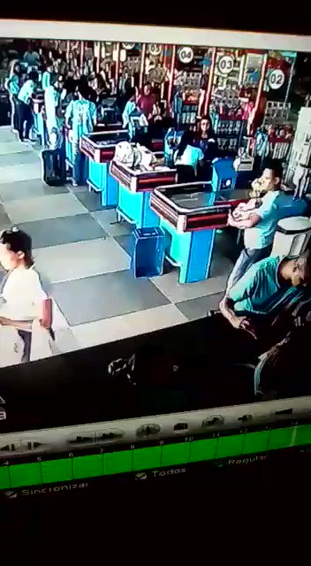 MEDIA: Brazilian man in supermarket