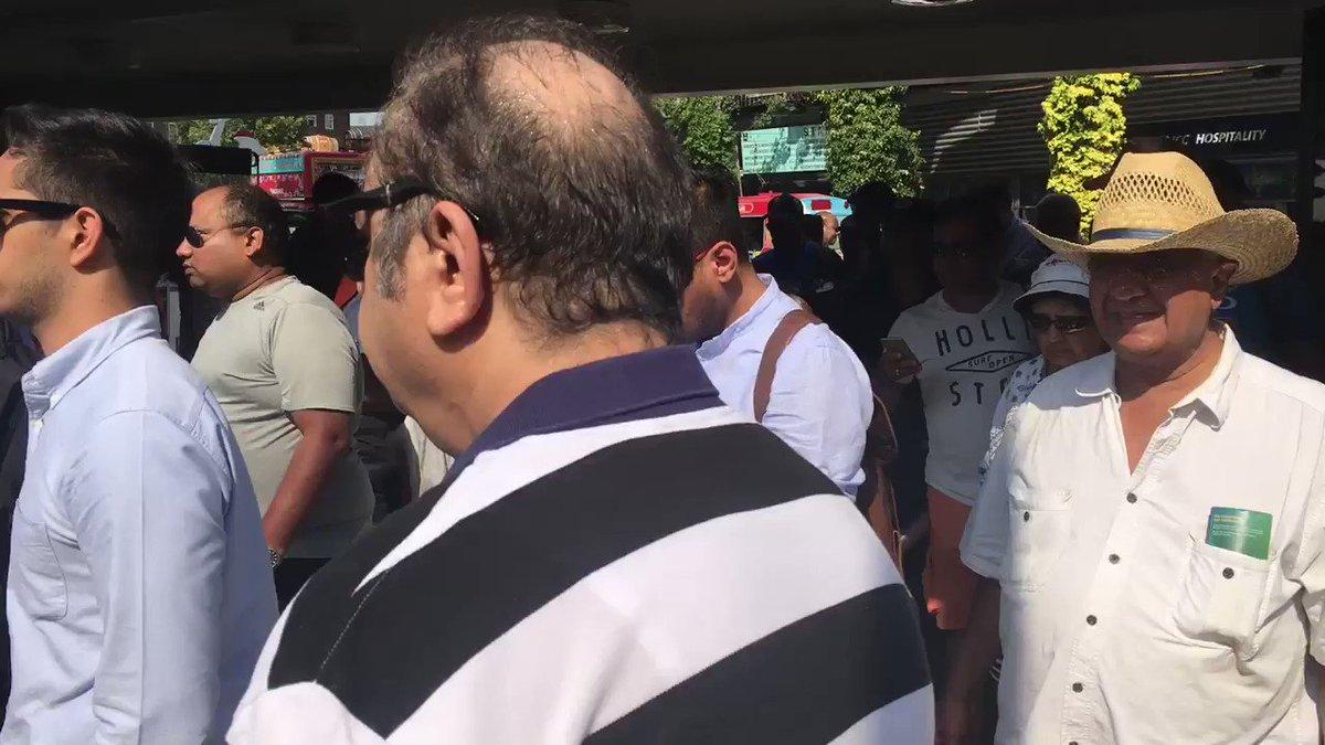 Indian fans leaving through the Alec Stewart gate. #CT17 #INDvPAK https://t.co/8V8445G7gl