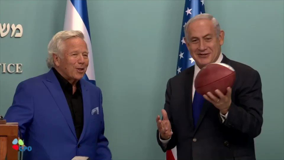 I met today in Jerusalem with NFL Hall of Famers who are touring Israel. Listen to what I told them.