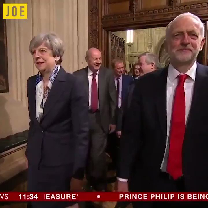 Good to see May and Corbyn discussing the important matters of the day...