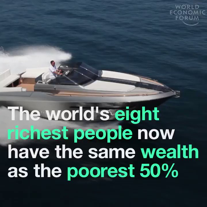 The world's 8 richest people have the same wealth as 50% of all popula...