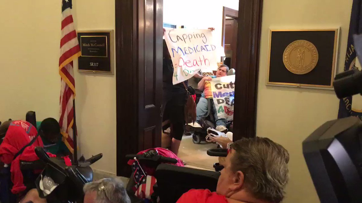 Protest outside of McConnell's office af...