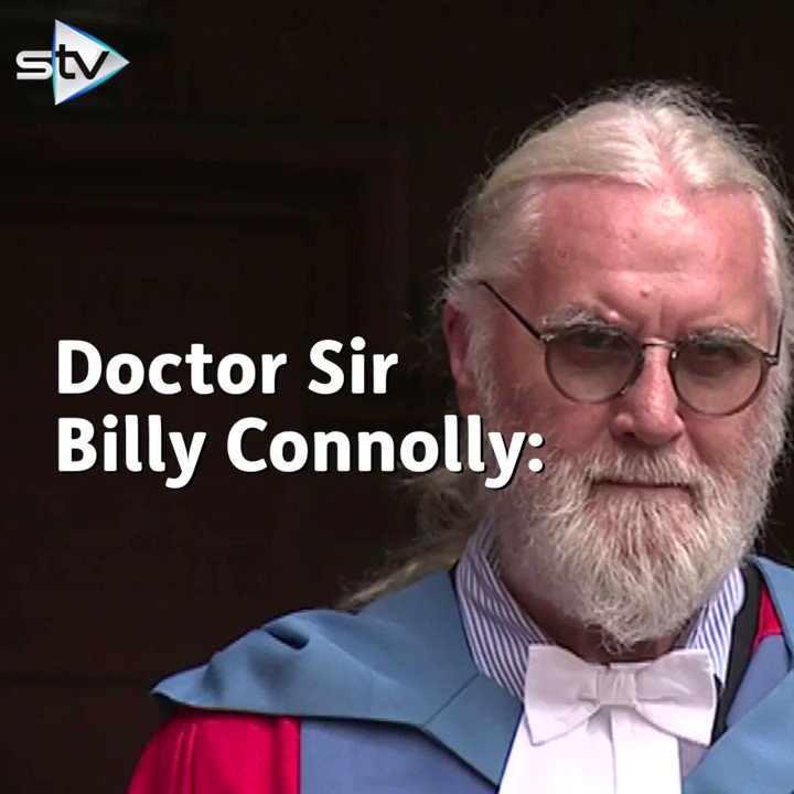 WATCH: Sir Billy Connolly receives honorary university degree https://t.co/nTLp1NJ3nj