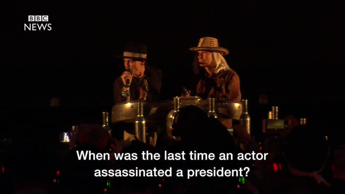 Johnny Depp appears to threaten an assassination attempt on Donald Tru...