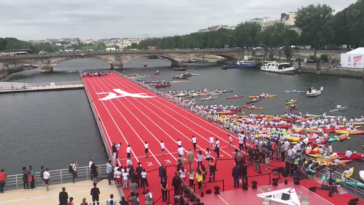 Ces Jeux @Paris2024 sont faits pour être partagés avec la jeunesse - la piste d'athlétisme de partage donc pour eux https://t.co/mEic8qdZvb