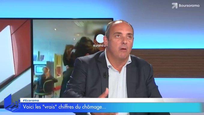 'Le #chomage en #France, plus proche des 20% que des 9%' @Odelamarche #Ecorama #Macron #Economie