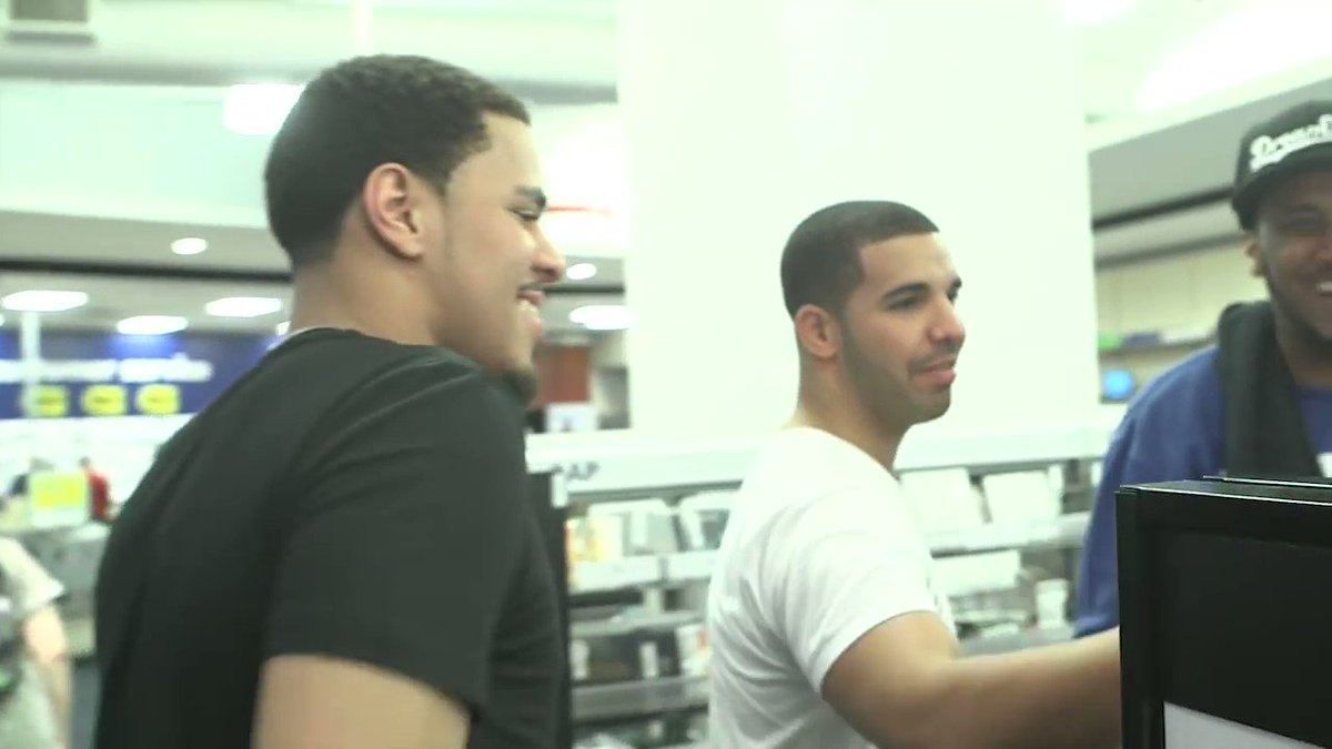 #flashbackfriday to drake and cole buying all the copies of 'born sinn...
