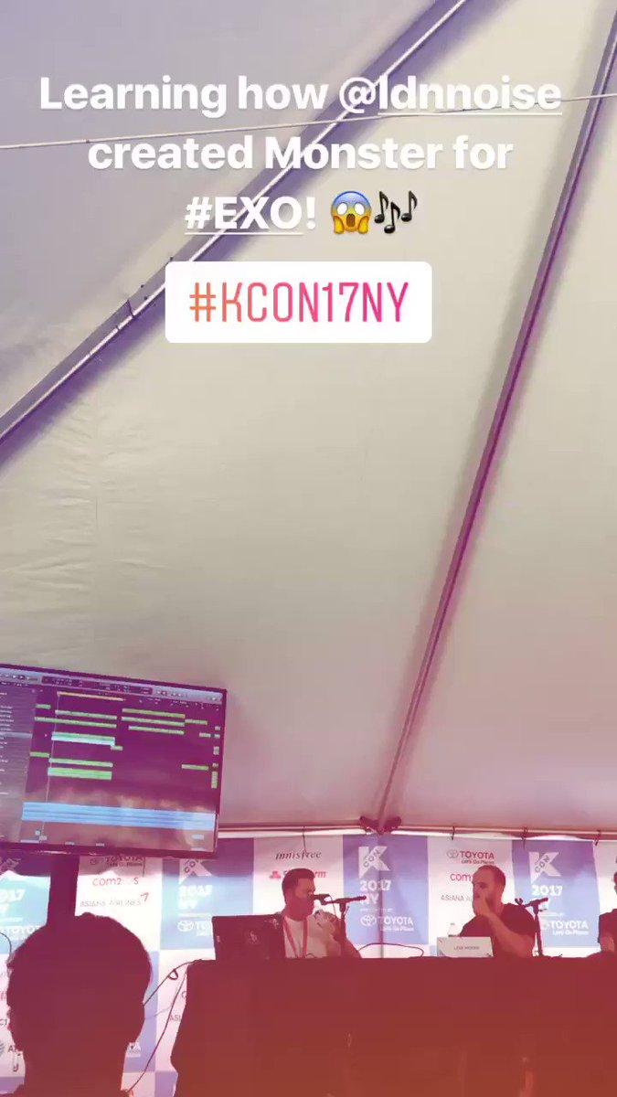 Minnnnnnnnd BLOWN listening to the magic @LDNNOISE makes producing for EXO at @kconusa! #KCON17NY